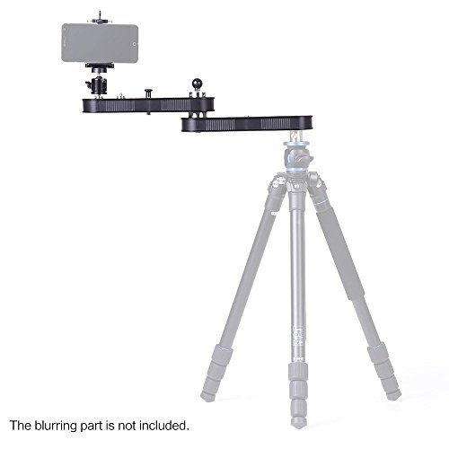 Andoer Camera Slider Rail Track Dolly with Panning and Linear Motion Extends Up to 4× Distance for GoPro Action Cameras/Smartphone/DSLR/ILDC Cameras' Video Recording