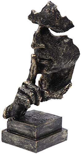 JJDSN 1 Pieza de estatuas de Figuras de Resina, Escultura de Pensador, Figura Abstracta Vintage, decoración, artesanía de Resina para Mesa de Oficina en casa