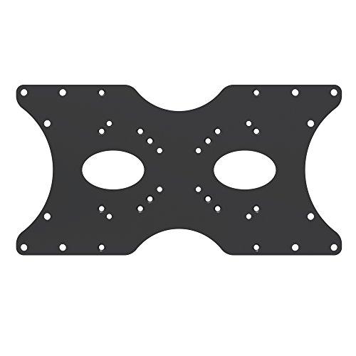 PureMounts ADAPT-B Piastra adattatore VESA universale per allargare le distanze VESA, ingrandisce VESA 50x50 fino a 400x200, max. 30 kg, nero