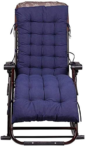 Patio Chaise Lounger,Chaise Longue Cushion, Rocking Chair Cushion Padded Seat,Cushion Rattan Chair Cushion Sofa Cushion for Indoor Outdoor Living Room and More (Color : Navy Blue 155 * 48 * 8cm)
