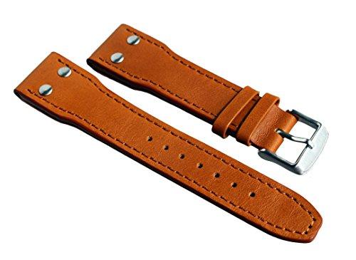 Sulla - Cinturino in pelle di vitello Fleigerband Pilot IW, 22 mm, colore:...