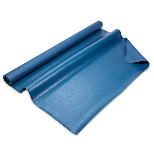 Q324 Active - Fitnessmatte extra groß- 180x140cm - rutschfeste und robuste Trainingsmatte - Yogamatte - Sportmatte - Öko-Tex Zertifiziert - Gymnastikmatte - optimale Dämpfung - Made in Germany - Blau