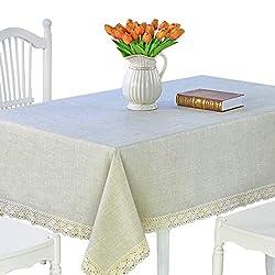 powerful DARUITE Vinyl tablecloth Heavy rectangular tablecloth Oil resistance / water resistance, stain resistance /…