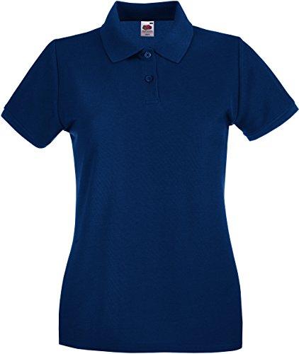 Preisvergleich Produktbild Fruit of the Loom Lady-Fit Premium Poloshirt 63-030-0,  Größe:L;Farbe:Navy