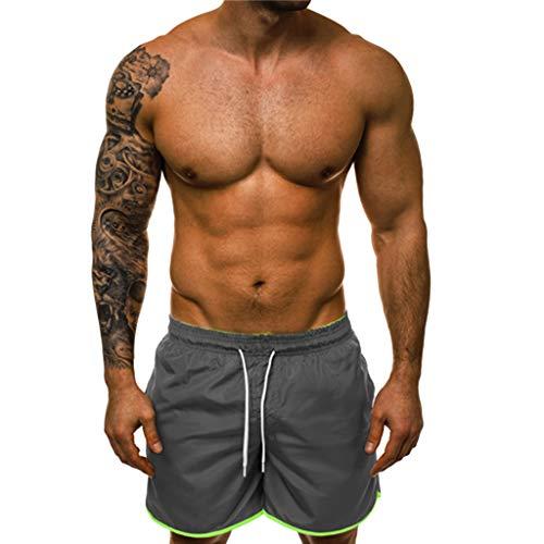 Kurze Jogginghose Herren Casuals Short klassischen Trainingsshorts Sommer Kurze Hosen Schnelltrocknende Laufshorts mit Taschen Kompressionsshorts