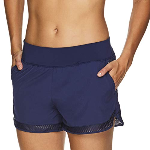 HEAD Women's Athletic Workout Shorts - Polyester Gym Training & Running Short - Teammate Medieval Blue, X-Small