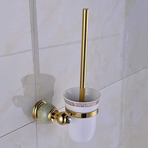 WYPJZS Toiletborstel, badkamer, badkamer, essential, koper, Europese jade, toiletborstel, toiletborstelhouder, badkamer, om op te hangen, waterdicht en vochtbestendig