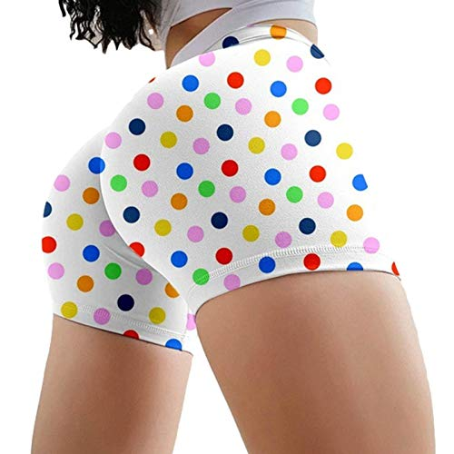 Welltobuy Shorts Butt Lift Leggings Shorts Pantalones Cortos de Puntos para la Moda de Las Mujeres, adecuados para Deportes al Aire Libre, Bailes, Correr, Fitness.