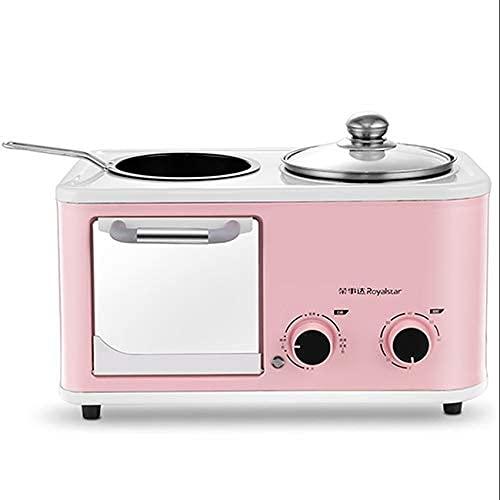 NZKW Mini Horno, máquina de Desayuno Cuatro en uno, Horno eléctrico, tostadora, sandwichera, Cocina versátil, Temperatura Ajustable, función de Temporizador, Accesorios incluidos, Varia