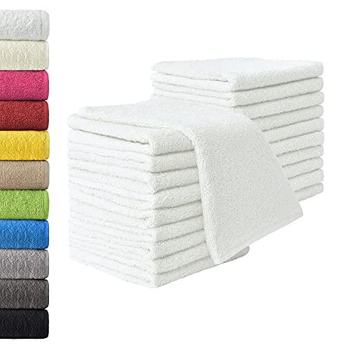 NatureMark 20x, 100% Baumwolle Gästetücher, weiß, 20er Pack 30x50cm, 20