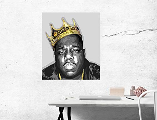 purenet Biggie Crown Painting Style On Canvas Made in US (12X14)