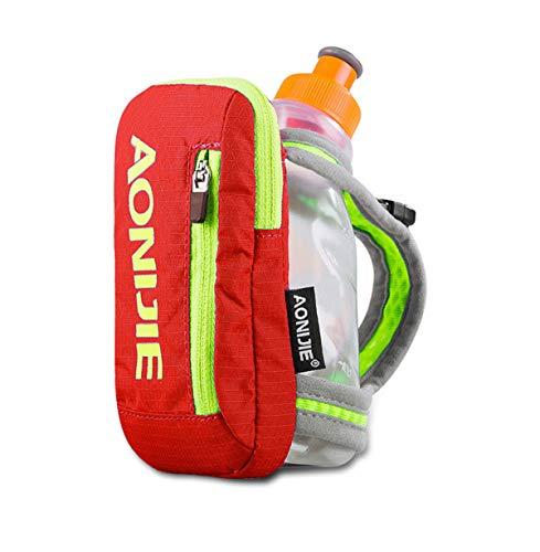 Win.Deeper Handheld Quick Grip Chill Flaschenhalter Handheld Trinkflasche Handschlaufe mit 500ML Weiche Flasche or 250ML Flasche (Orange + 250ML Bottle)