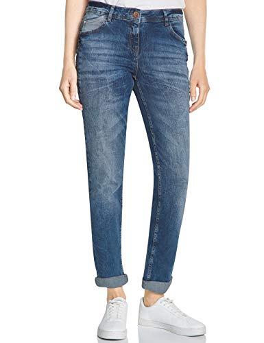 Cecil Damen 372463 Scarlett Loose Fit Straight Jeans, Authentic Used wash mid Blue, 40 /L32 (Herstellergröße:32)