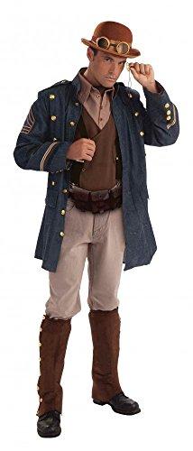 Steampunk Generalsjacke Hemd mit Weste und Ascotkrawatte Gr. L Kostüm General
