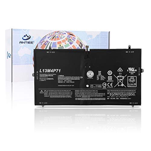 ANTIEE Compatible New 4 Cell L13M4P71 L14S4P71 Laptop Batería Replacement Lenovo Yoga 3 Pro 1370 I5Y70 5Y71 I5Y51 I5Y71 Pro 1370 80HE Pro I5Y70(D) Pro I5Y70(F) 7.4V 44Wh/5900mAh