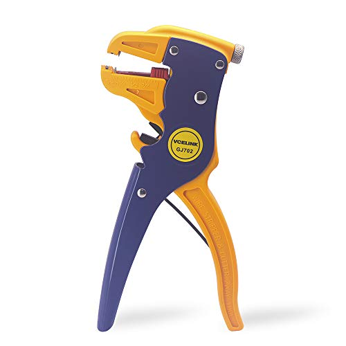 VCELINK Automatic Wire Stripper and Cutter,Professional 2 in 1 Adjustable Automatic Cable Wire Stripper and Cutter&eagle nose pliers