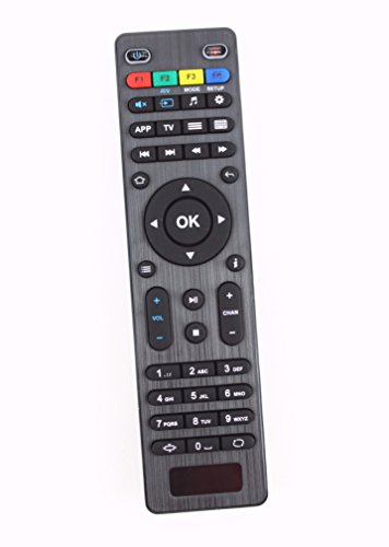 Infomir MAG 254/255 Remote Control for Streaming Media Player Multipurpose Replacement Part Linux System OTT IPTV Set Top Box, Black