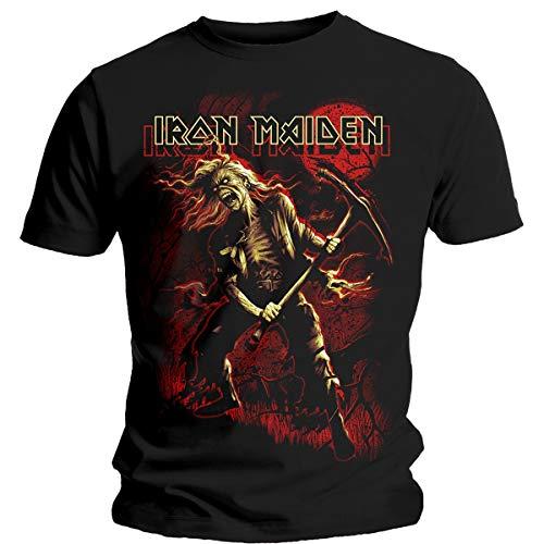 T-Shirt # M Black Unisex # Benjamin Breeg Red Graphic