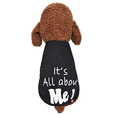 waitFOR Pets Plus Size Words Printing Sweater Dogs Cats Winter Autumn Half Sleeve Outdoor Turtleneck Jumper Doggy High Collar Indoor Comfort Sweatshirt Xmas Gift for Puppy Apparel Pets Clothing