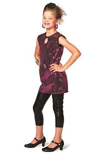 Jannes - Kinder-Kostüm Pailetten-Kleid Pink 164