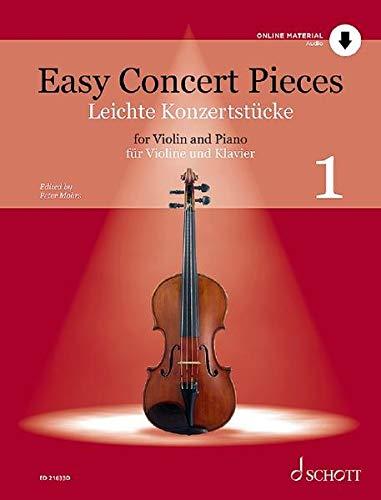 Easy Concert Pieces: Band 1. Violine und Klavier. Ausgabe mit Online-Audiodatei.