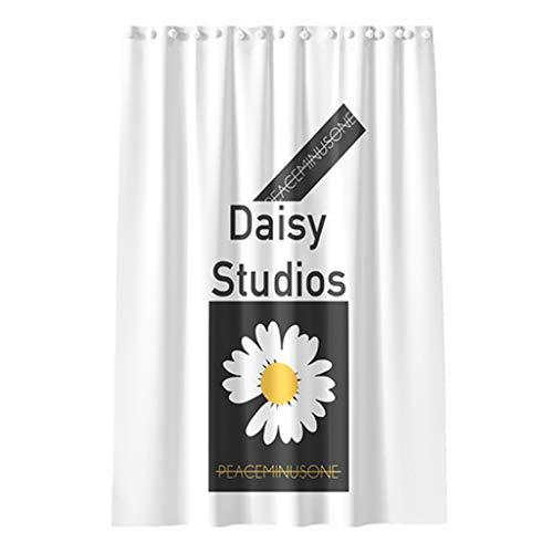 LDDLDG Cortina de ducha de poliéster, antimoho y resistente al agua, diseño de látex, cortina de baño con ganchos para cabina de ducha, Fibra natural, 200cm*150cm