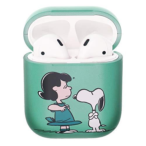 Peanuts Snoopy ピーナッツ スヌーピー AirPods と互換性があります ケース エアーポッズ用ケース 硬い スリム ハード カバー (一緒 スヌーピー ルーシー) [並行輸入品]