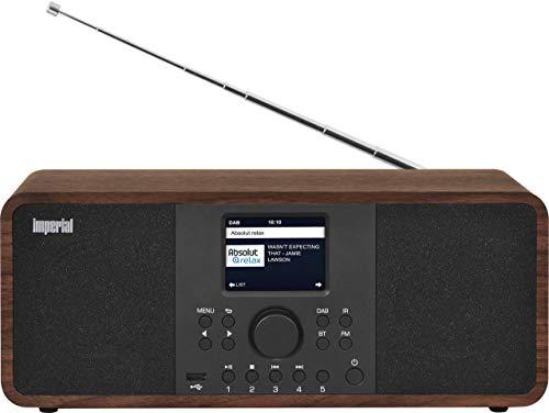 IMPERIAL DABMAN i205 Internetradio/DAB+ (Stereo Sound, UKW, WLAN, LAN, Bluetooth, Streamingdienste (Spotify, Napster UVM.) inkl Netzteil) braun