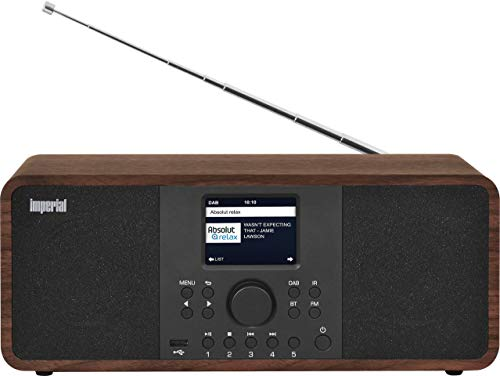 IMPERIAL DABMAN i205 Internetradio/DAB+ (Stereo Sound, UKW, WLAN, LAN, Bluetooth, Streamingdienste (Spotify, Napster UVM.) inkl Netzteil) braun