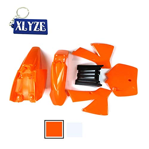 XLYZE Kit de Defensa de carenado de plástico Naranja para KTM50 KTM50SX MT50 MTK50 Mini Aventura de Junior Junior SX SR JR KTM 50cc MT Dirt Bike
