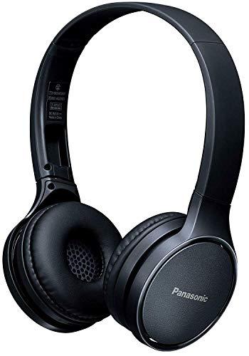 PANASONIC RP-HF410B Audífono de Diadema Bluetooth, 24hrs de reproducción inalámbrica, control inteligente por voz, manos libres, sistema de bajos extra (XBS), plegables, muy ligeros (130g) Color NEGR