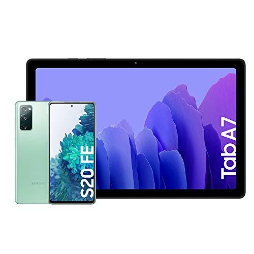 Samsung Galaxy S20 FE 4G - 256 GB, Color Verde [Versión española] + Samsung Galaxy Tab A 7 [Tablet de 10.4
