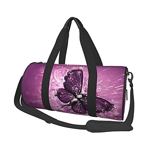 BTDOSGAT - Borsone da viaggio con farfalla, leggero, pieghevole, impermeabile, con tracolla, per uomo e donna, Cruz V2 Fresh Foam (nero) - Black-48