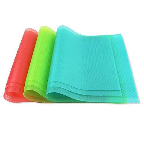 zyr 9 Pack tapetes de refrigerador Alfombrillas de estanterías Lavables Nevera alfombras se Pueden Cortar refrigerador Liners cajón mantects manteles