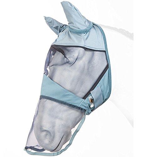 Fliegenmaske mit Ohren- und Nasenschutz Marengos taubenblau Warmblut