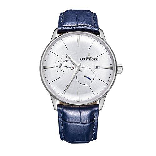 REEF TIGER Herren Uhr analog Automatik mit Leder Armband RGA8219-YWL
