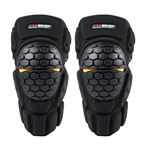 Motocicleta Knee Pad Hombres Equipo De Protección Relación Rodilla Gurad Protector Armadura Madoras para Fútbol De Motocross Patinaje De Baloncesto Ski (Color : Black)