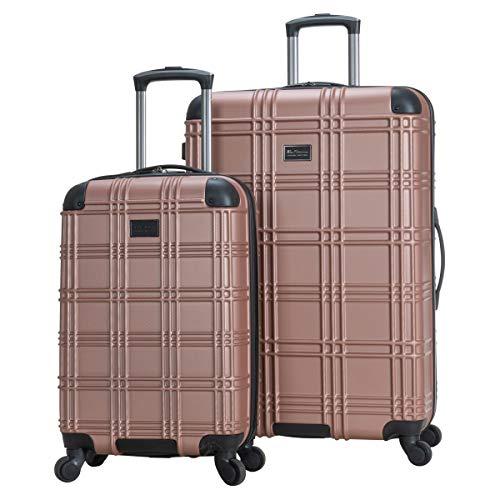 Ben Sherman Nottingham Lightweight Hardside 4-Wheel Spinner Travel Luggage, Rose Gold, 2-Piece Set (20' & 28')
