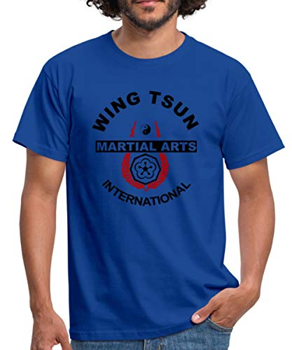 Martial Arts Wing Tsun Männer T-Shirt, 3XL, Royalblau