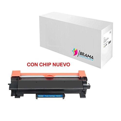 Bramacartuchos - Toner Compatible con Cartucho TN2420 / TN2410 con Chip Nuevo Alta Capacidad, Impresoras HL L2370DN, HL L2375DW, MFC L2710DN, MFC L2730DW, MFC L2750DW, Empresa Española (1), Negro