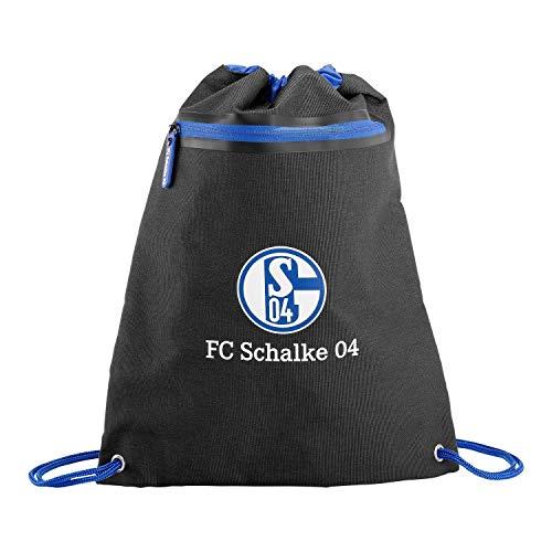 FC Schalke 04 Turnbeutel schwarz, Gym Bag, Sportbeutel, Rucksack S04 - Plus Lesezeichen I Love Gelsenkirchen