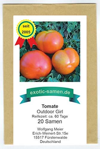 Tomate - Outdoor Girl - eine sehr frühe, kältetolerante Sorte - 20 Samen
