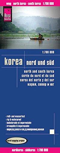 Reise Know-How Landkarte Korea, Nord und Süd (1:700.000): world mapping project: Mit koreanischer Schrift. Höhenlinien und Höhenschichten-Relief. ... Strassennetz. Ausführlicher Ortsindex