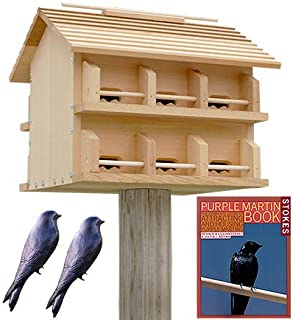 BestNest Heath Cedar Crescent Entry Purple Martin House Package