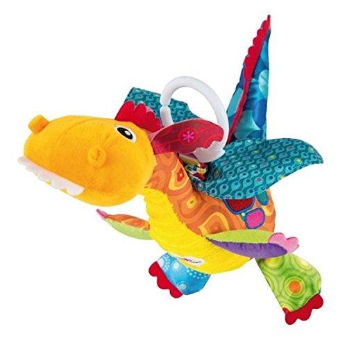 Tomy Lamaze – Plüschtier Flynn der Drache L27185, Plüschtier Baby mit Clip für Wiege oder Kinderwagen, Spielzeug für Babys, Lernspielzeug, mehrfarbig, geeignet ab der Geburt
