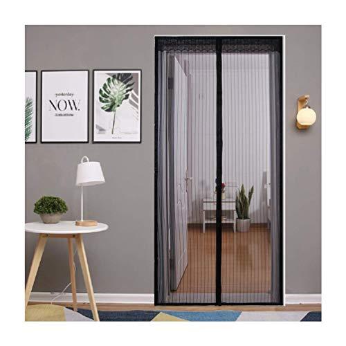 Insectenbescherming vliegengordijn magneet, sterk mesh houdt insecten-muggendoppen uit de kinderkamer, zwart 80×200cm/31×79in