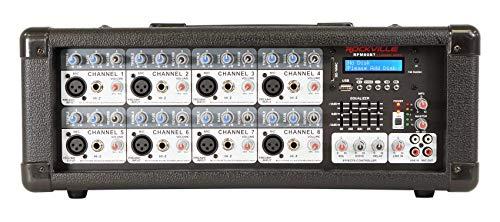 Rockville RPM80BT 2400w Powered 8 Channel Mixer/Amplifier w/Bluetooth/EQ/Effects