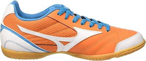Mizuno Sala Club In, Botas de fútbol para Hombre, Arancione (Vibrant Orange/White/Atomic Blue), 44 1/2 EU