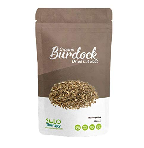 Certified Organic Burdock Root, Dried Cut & Sifted, 8 oz , Arctium lappa L , Burdock Herbal Tea , Product from Turkey, Packaged in the USA (8 oz.)