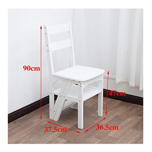 Trapladder, klapkruk, kan worden gebruikt als ladder/kruk/standaard, opvouwbaar ontwerp, comfortabele opslag, stoelladders kunnen op elk moment tussen je worden ingeschakeld.